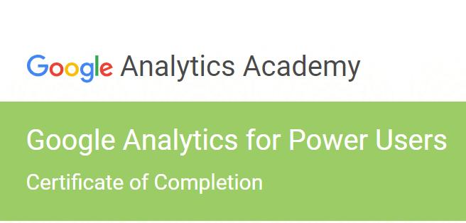google analytics power user